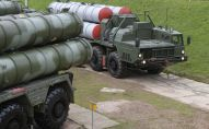 S-400 Triumf anti-aircraft weapon systems during combat duty drills of the surface to air-misile regiment in the Moscow Region.