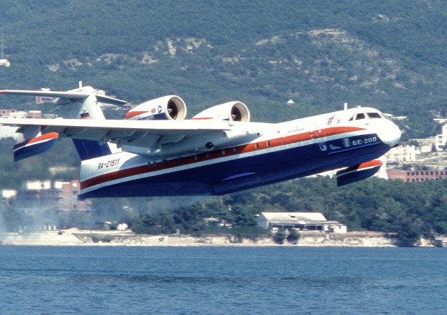 Beriev Be-200 amphibious firefighting aircraft