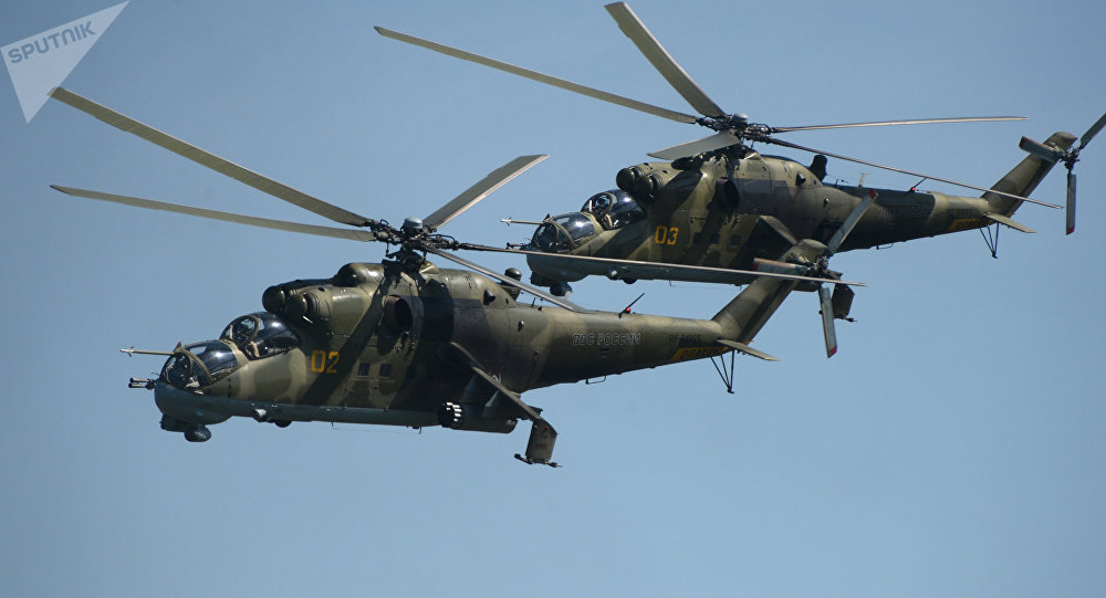 Russian Mi-24 helicopters