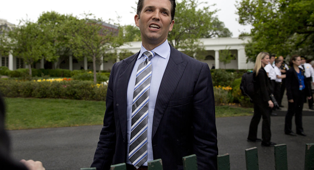 Donald Trump Jr., the son of President Donald Trump