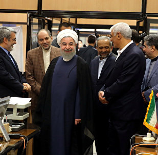 Iran's President Hassan Rouhani visits the election office in Tehran, Iran, May 19, 2017. Picture taken May 19, 2017