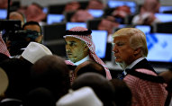 U.S. President Donald Trump (R) and other leaders tour the new Global Center for Combatting Extremist Ideology in Riyadh, Saudi Arabia May 21, 2017