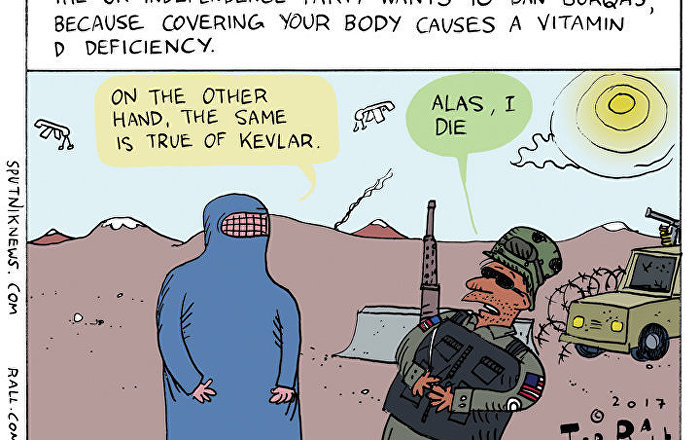 Burqa Ban UKIP Cartoon