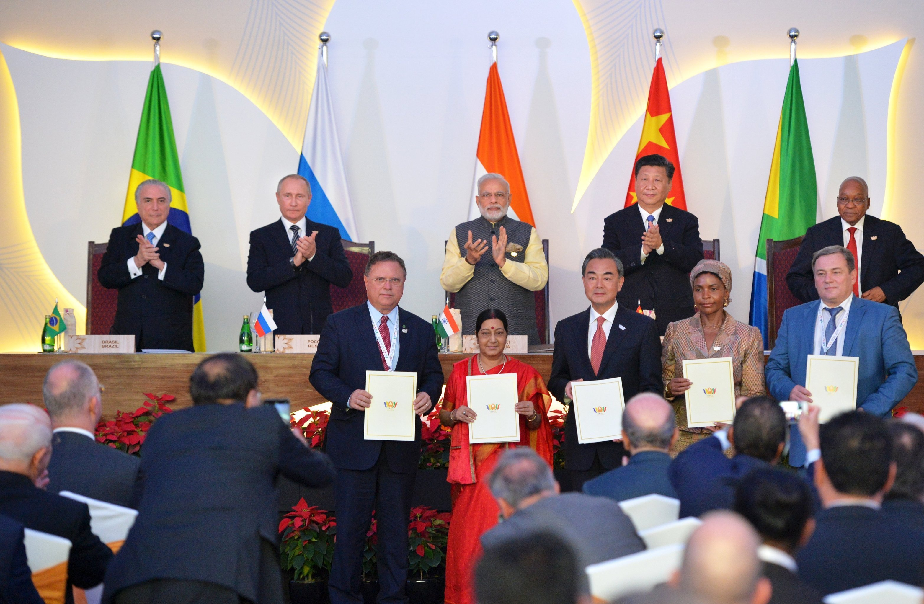 BRICS leaders at the 2016 summit in Goa.