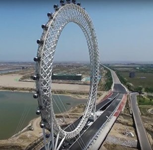 The Giant Ferris Wheel Built In China