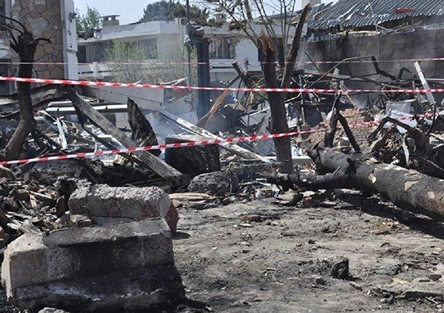Blast in Kabul, Afghanistan