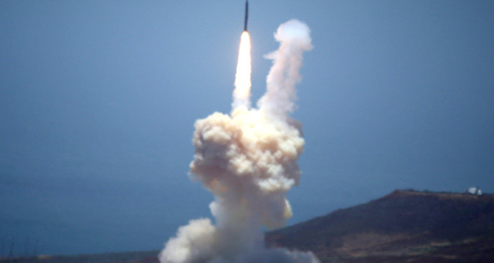 The Ground-based Midcourse Defense (GMD) element of the U.S. ballistic missile defense system launches during a flight test from Vandenberg Air Force Base, California, U.S