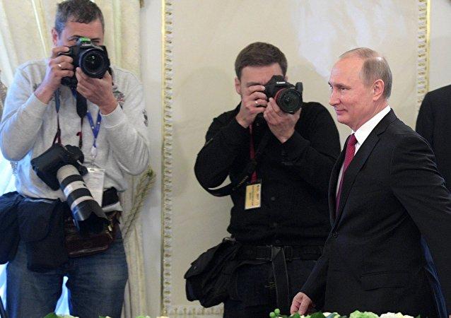 President Vladimir Putin takes part in St. Petersburg International Economic Forum 2017