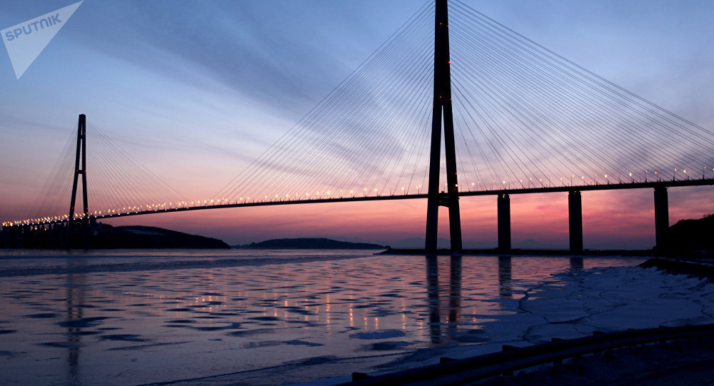 The cable-stayed bridge across Eastern Bosphorus Strait to Russky Island in Vladivostok. (File)