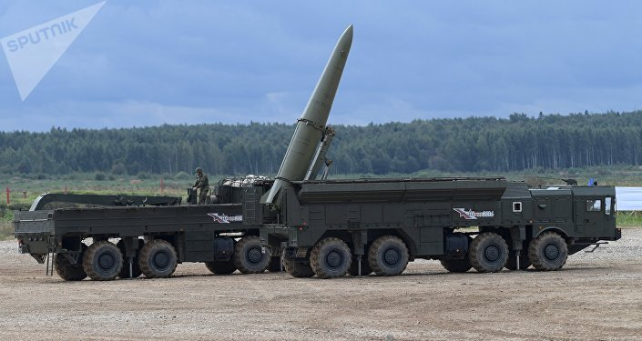 The Iskander-M missile system during a military machine demonstration at the Alabino training ground. File photo