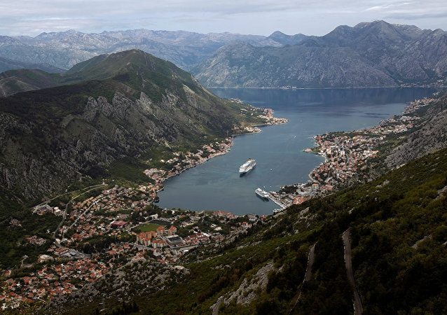 A cruiser ship arrives to UNESCO protected Region of Kotor, Montenegro April 27, 2017