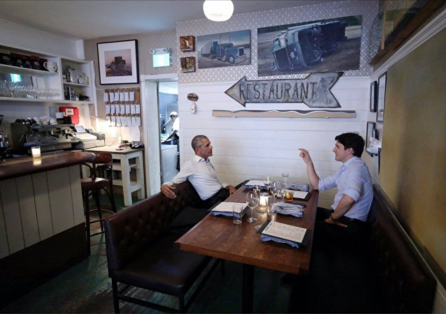 Justin Trudeau and Barack Obama Montreal Dinner