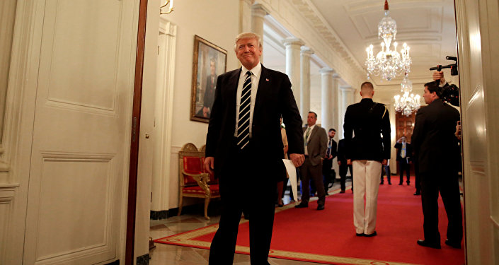 U.S. President Donald Trump arrives at the Infrastructure Summit with Governors and Mayors at the White House in Washington, U.S., June 8, 2017