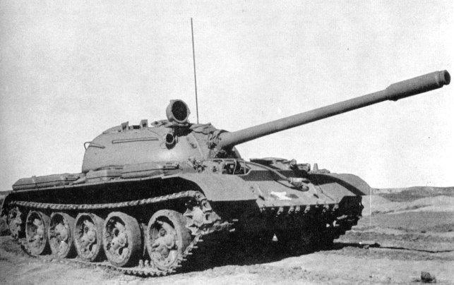 Soviet T-55 medium tank.