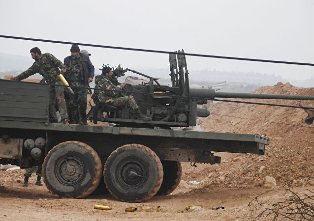 Syrian army troops (File)