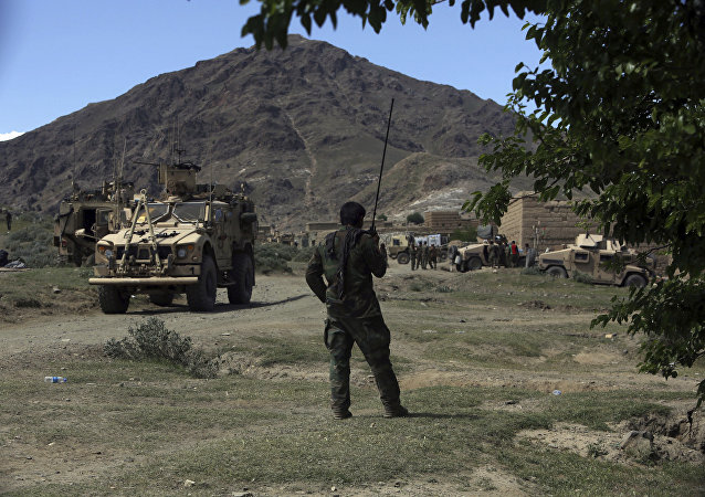 U.S. forces and Afghan commando are seen in the Achin district, Afghanistan. (File)