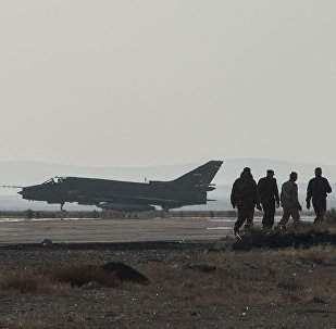 A Su-22 fighter jet at the Syrian Air Force base in Homs province. File photo