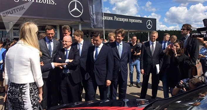At Daimler's construction site close to Moscow