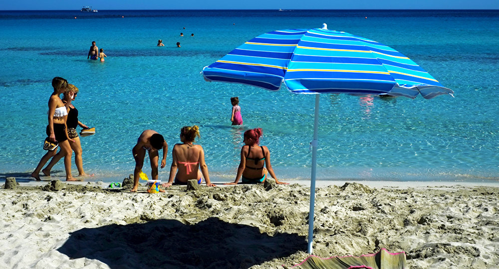 Tourists enjoy the sea and the good weather at Ayia Napa resort in southeast part of the Island of Cyprus (File)