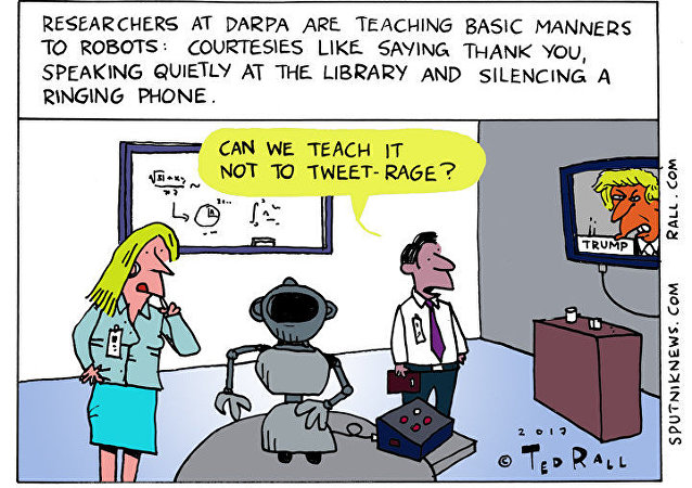 Robot Manners Cartoon
