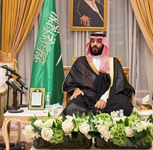 Saudi Arabia's Crown Prince Mohammed bin Salman sits during an allegiance pledging ceremony in Mecca, Saudi Arabia June 21, 2017