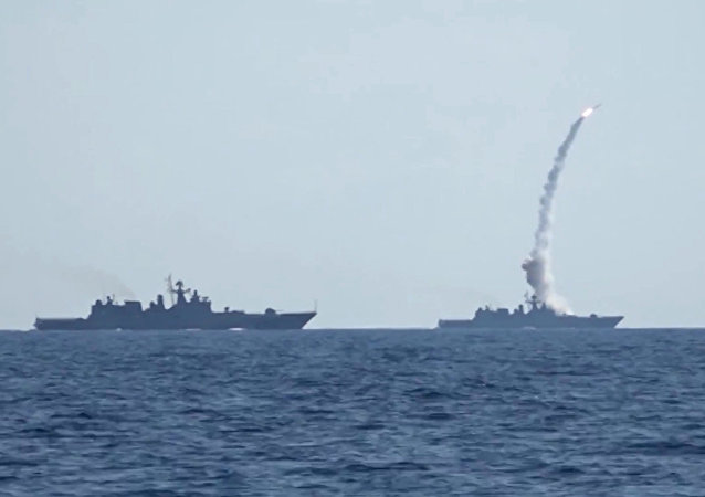 Kalibr cruise missiles hit banned terrorist group Daesh targets in Syria