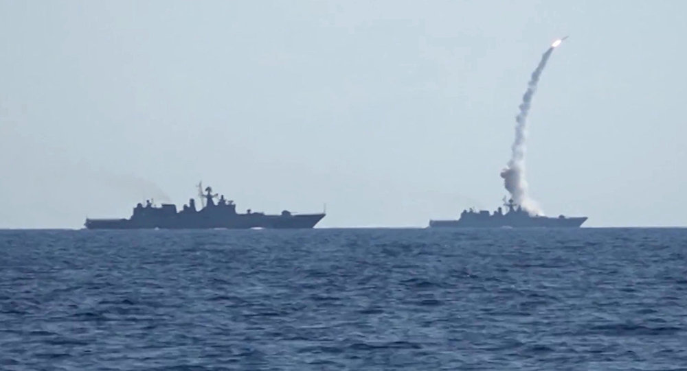 Kalibr cruise missiles hit banned terrorist group ISIS targets in Syria