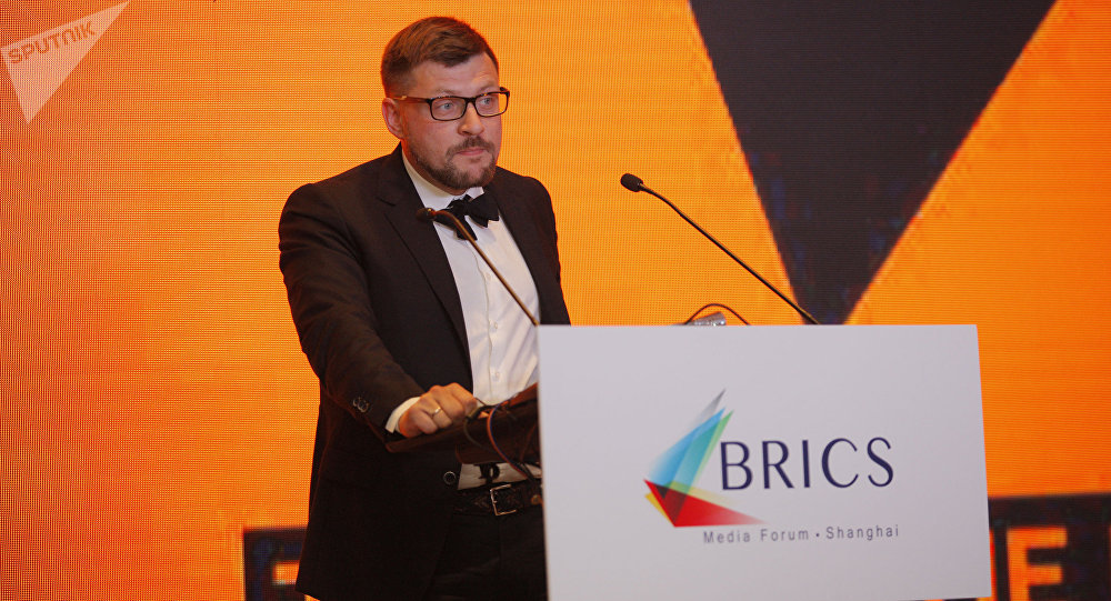 Sergey Kochetkov at Media Forum BRICS in Shanghai