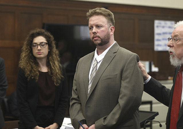Defense attorney Jonathan Shapiro, right, introduces Michael McCarthy, second right, to potential jurors as jury selection begins for Commonwealth vs. Michael McCarthy in Suffolk Superior Court Monday, May 22, 2017 in Boston. McCarthy is charged with the murder of 2-year-old Bella Bond, whose body washed up on a Boston Harbor island.