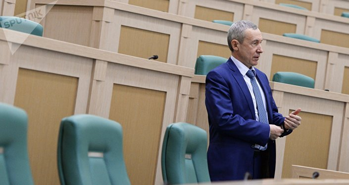 Andrei Klimov, the head of the Federation Council's commission on protection of state sovereignty (File)