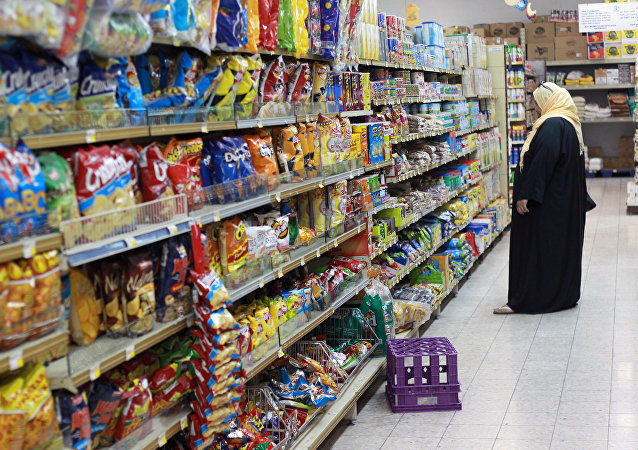 A woman shops in a supermarket in Doha, Qatar June 7, 2017