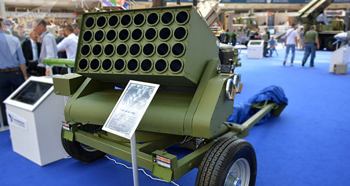 The Serbian multitube rocket launch system Lanser