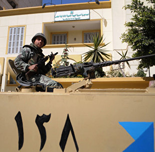 Egyptian soldiers are seen atop of a military vehicle in front of the Libyan consulate in the Egyptian costal city of Alexandria (File)