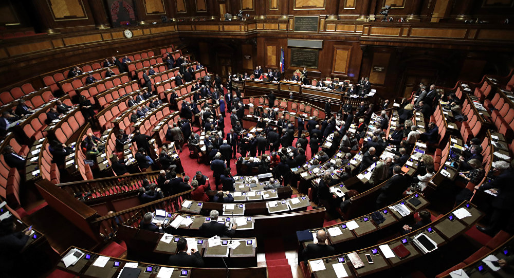 A view of the Italian Senate, in Rome (File)