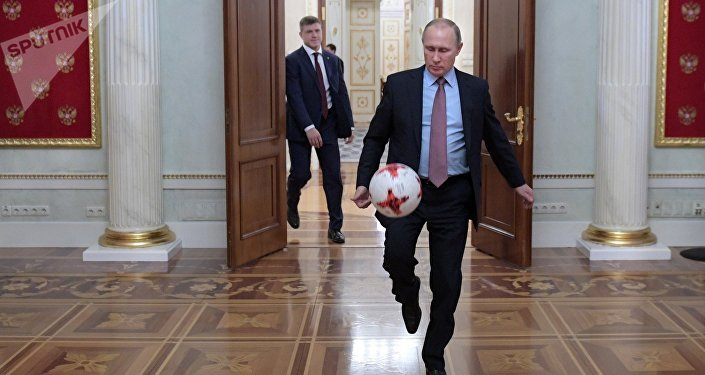 President Putin meets with FIFA president Giovanni Infantino