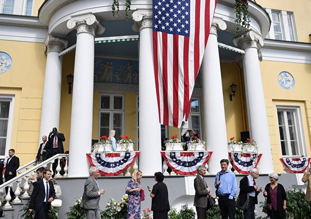 A reception at the US Ambassador to Russia's residence to mark American Independence Day