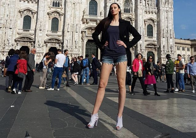 Standing Tall: Russian Woman Aims to Smash World Record for Longest Legs