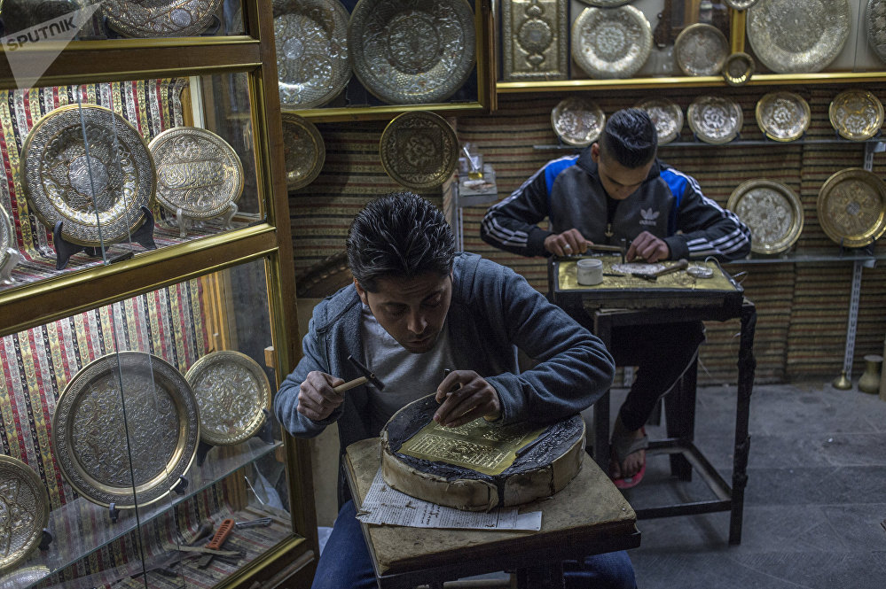 Craftsmen at work, Damascus.