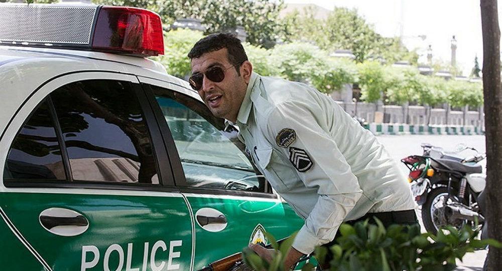 An Iranian policeman