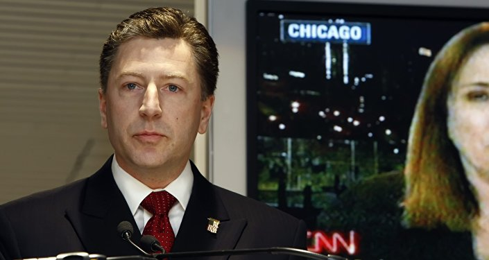 (File) US permanent representative to NATO Kurt Volker is pictured during the 'US elections Morning', organized at the BMW showroom, in Brusssels, November 05, 2008