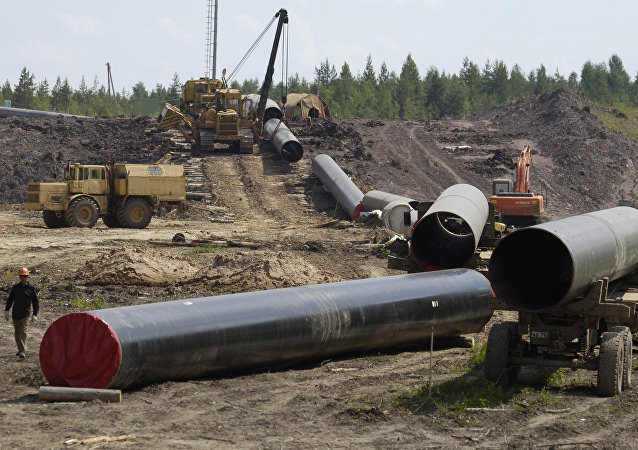 Construction gas pipeline. (File)