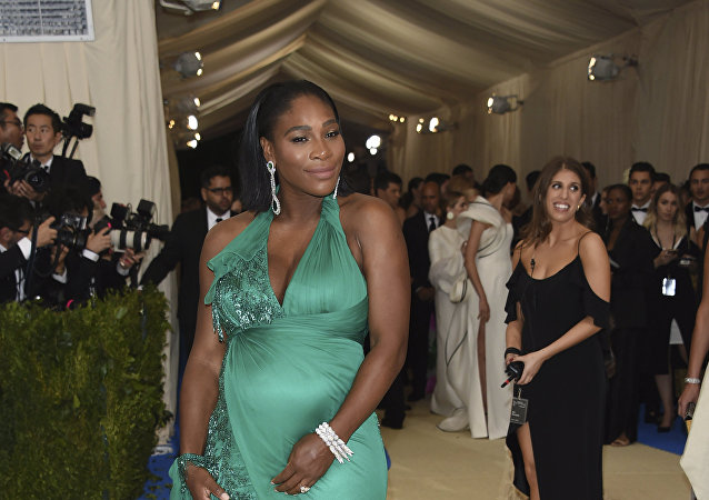 Serena Williams attends The Metropolitan Museum of Art's Costume Institute benefit gala celebrating the opening of the Rei Kawakubo/Comme des Garçons: Art of the In-Between exhibition on Monday, May 1, 2017, in New York.