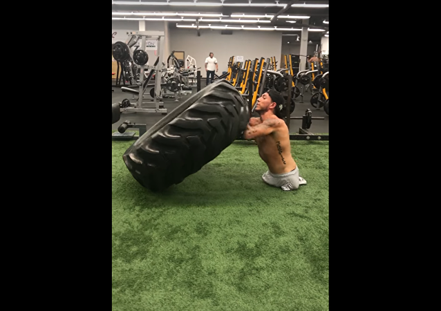 Exercising With a 152 lb Tire