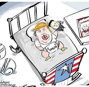Trump six months cartoon