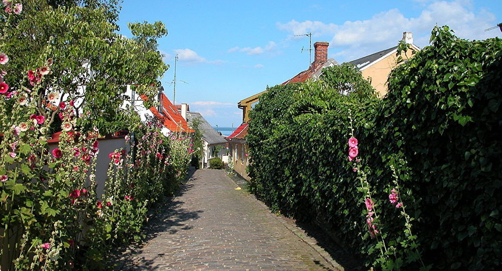 The city of Marstal on Ærø island, Denmark