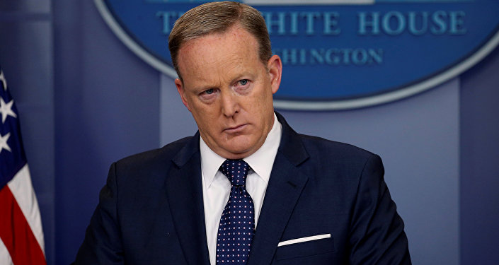 Sean Spicer holds his daily briefing at the White House in Washington, U.S., June 2, 2017.