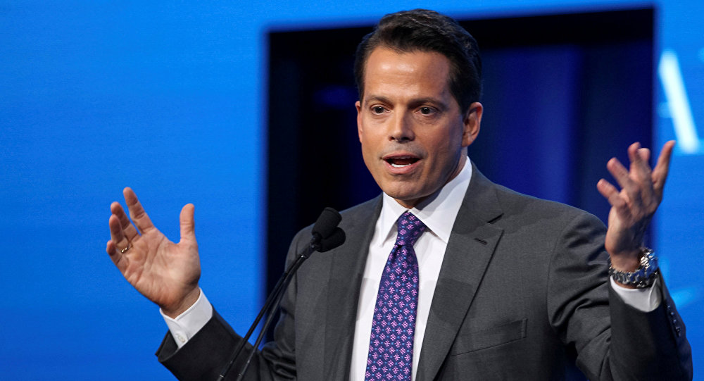 Anthony Scaramucci, Founder and Co-Managing Partner at SkyBridge Capital, speaks during the opening remarks during the SALT conference in Las Vegas, Nevada, U.S. on May 17, 2017.