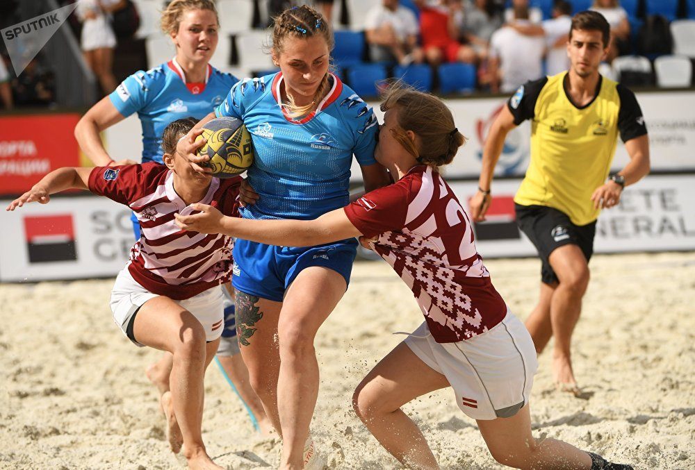 Female Fury: Beach Rugby Tournament in Moscow