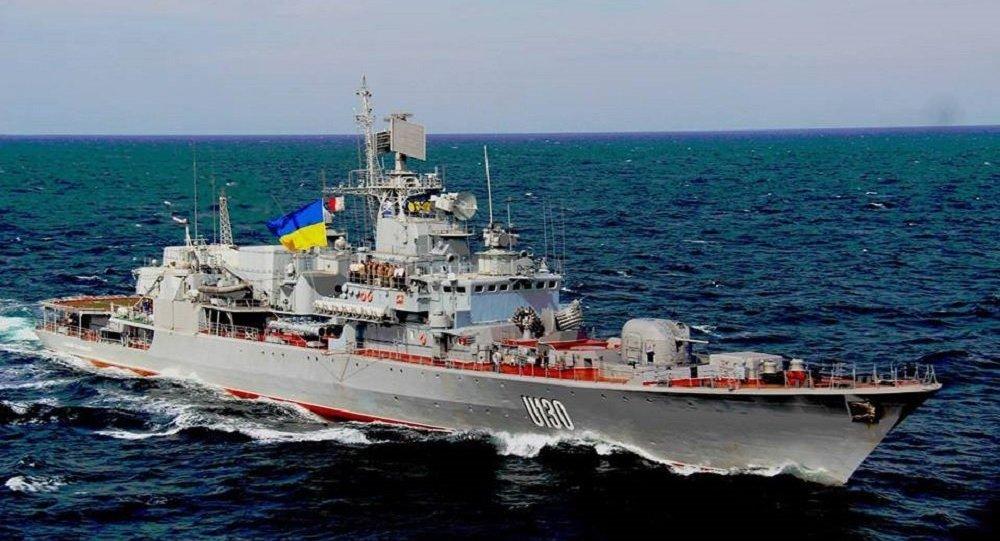 Ukrainian navy frigate Hetman Sahaydachniy
