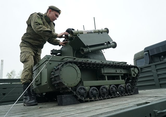 A Platforma-M robotic system of the Baltic Fleet. (File)